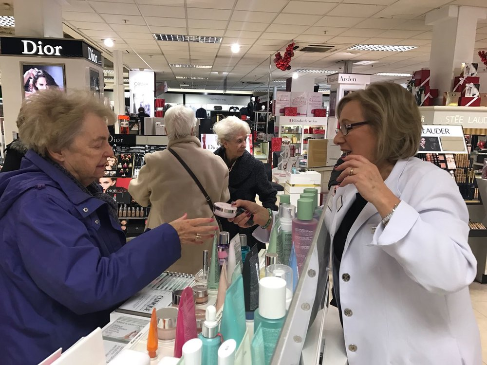 A trip to Debenhams in Southport where the ladies enjoyed beauty treatments.
