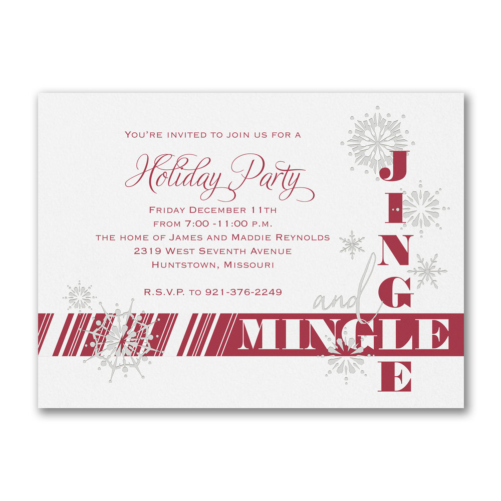 holiday party invitations -