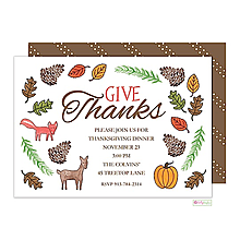 thanksgiving invitations -