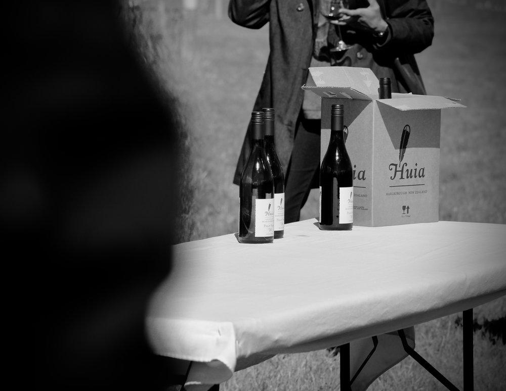 Huia Pinot Noir 2014 and Huia Pinot Noir 2006.