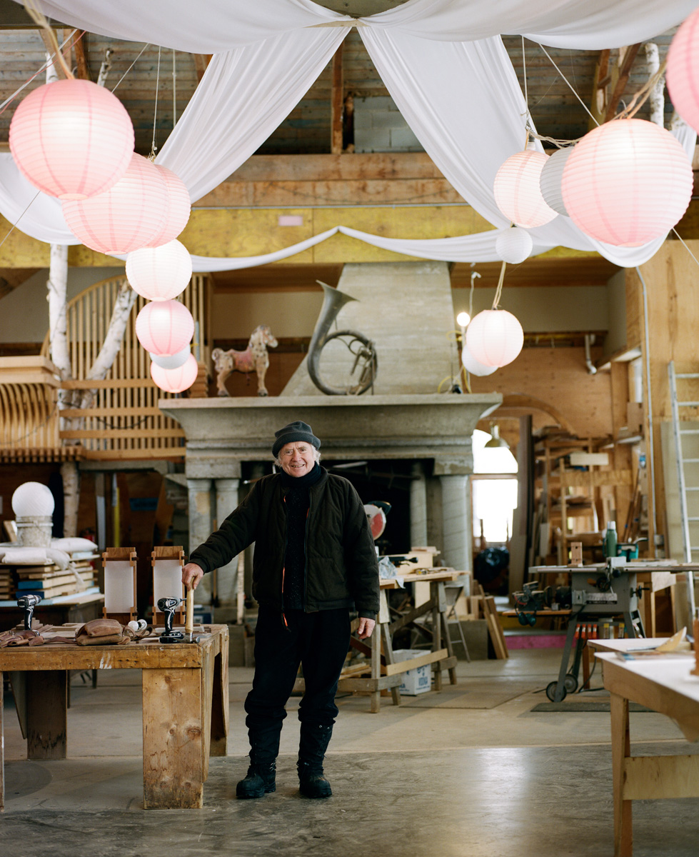 Dave Sellers in his workshop, The Temple of Dindor. Photo by Corey Hendrickson