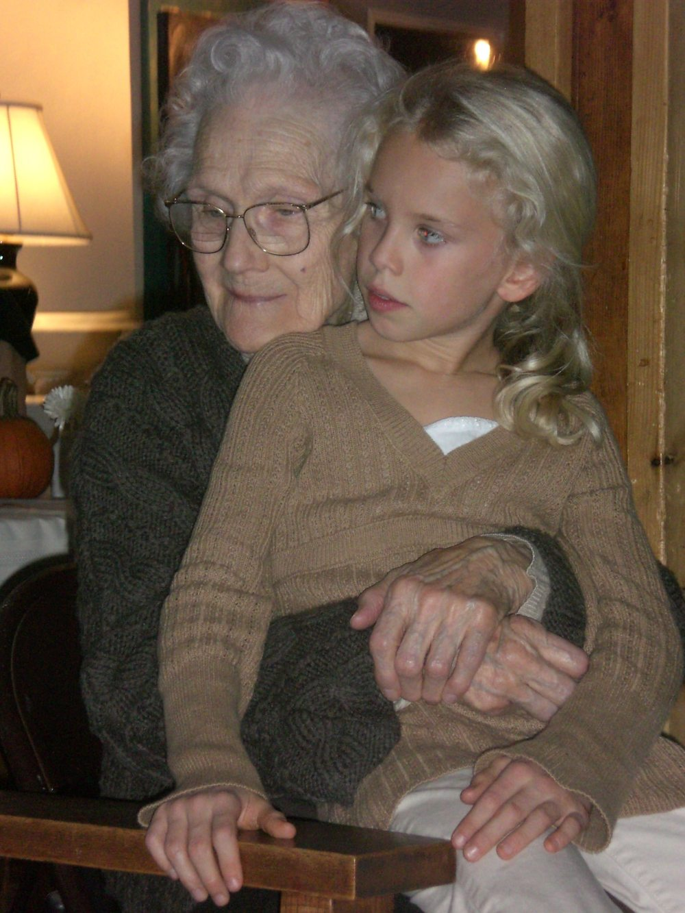 With her grandmother