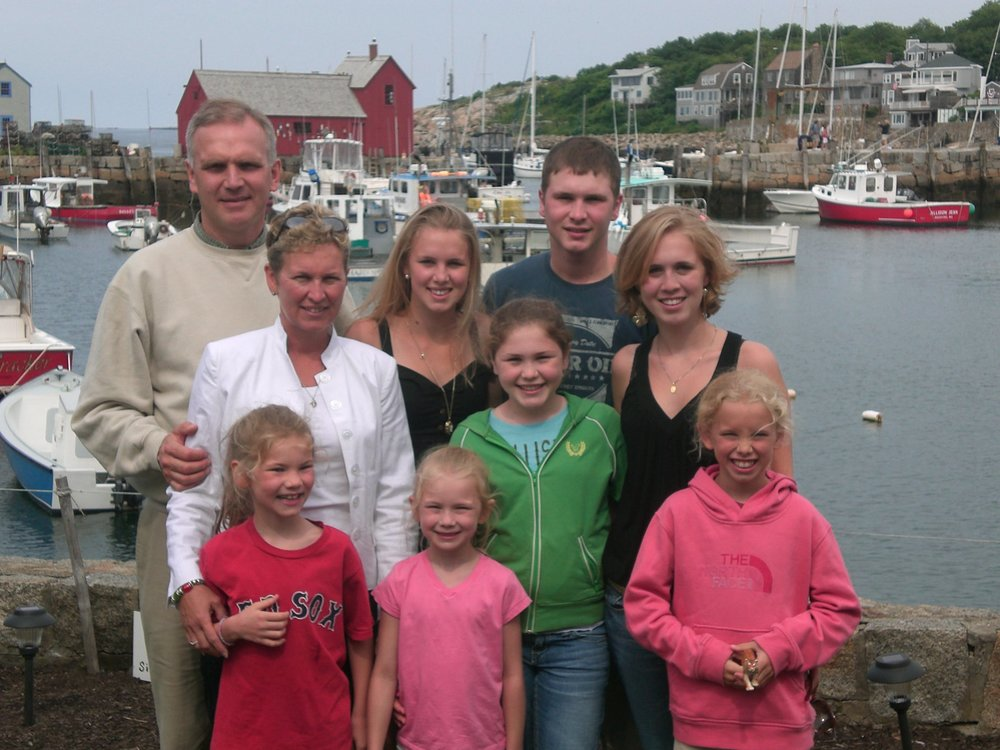 A family picture in Rockport, MA.