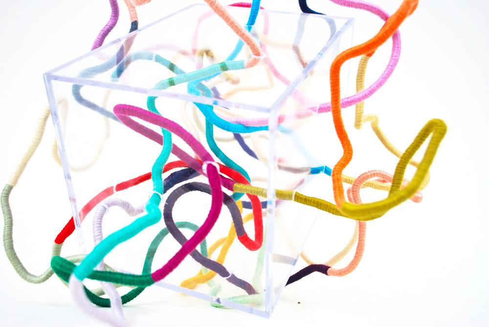 Contemporary Fiber Sculpture by Mafe Soltero | Sunfern Studio | sunfernstudio.com