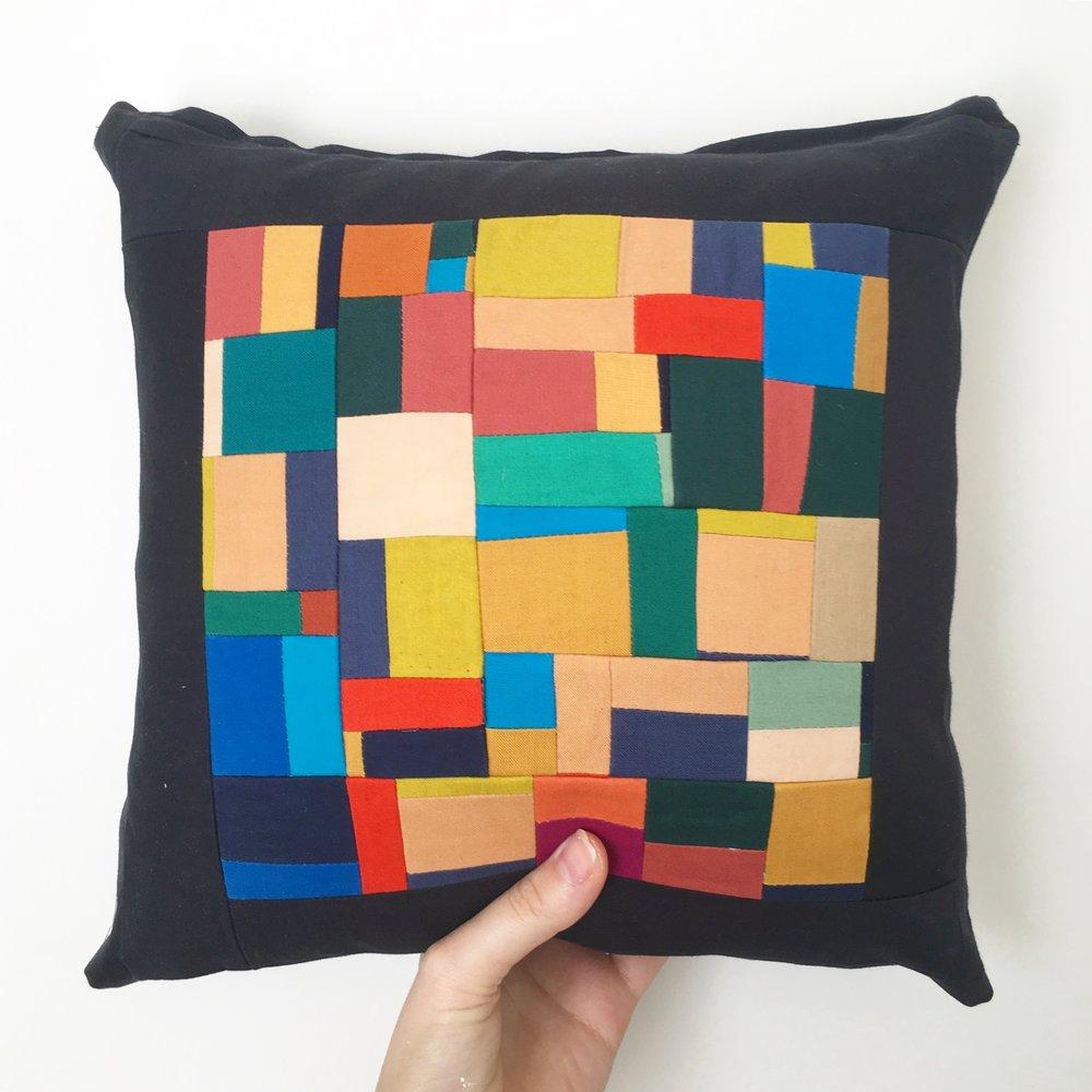 Handmade Modern Quilted Pillows by Sunfern Studio // sunfernstudio.com