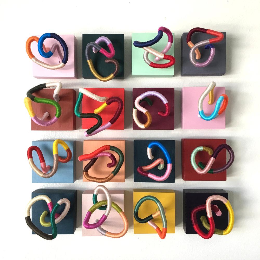 Contemporary Fiber Sculptures - Color Tiny Monsters by Sunfern Studio // sunfernstudio.com