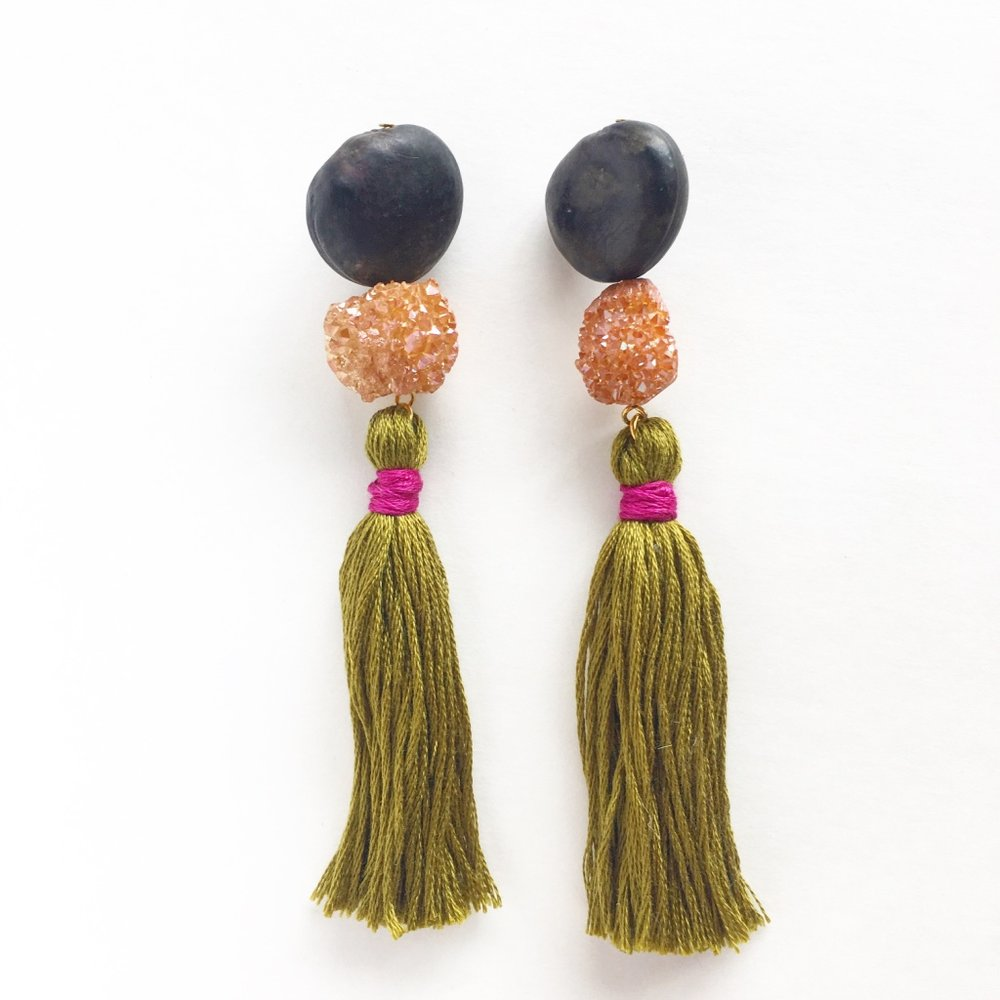 Unique Statement Earrings by Sunfern Studio // SHOP @ sunfernstudio.com