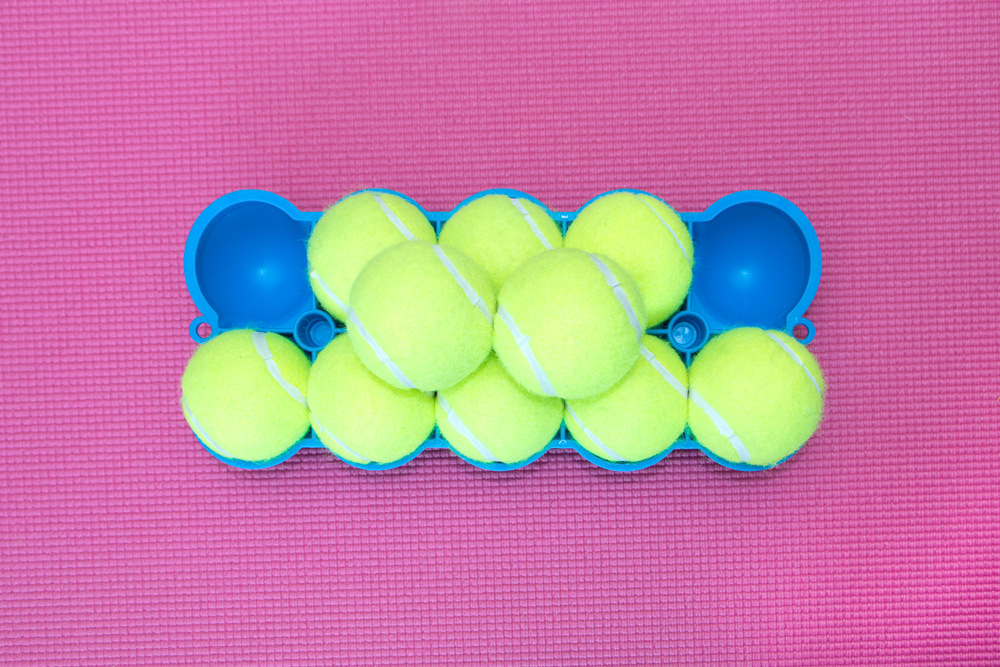 The Back King - Bottom Side 10 Stacked Tennis Balls