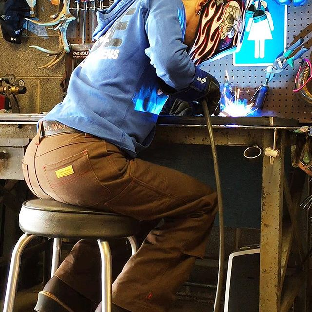 Barbie The Welder At Work