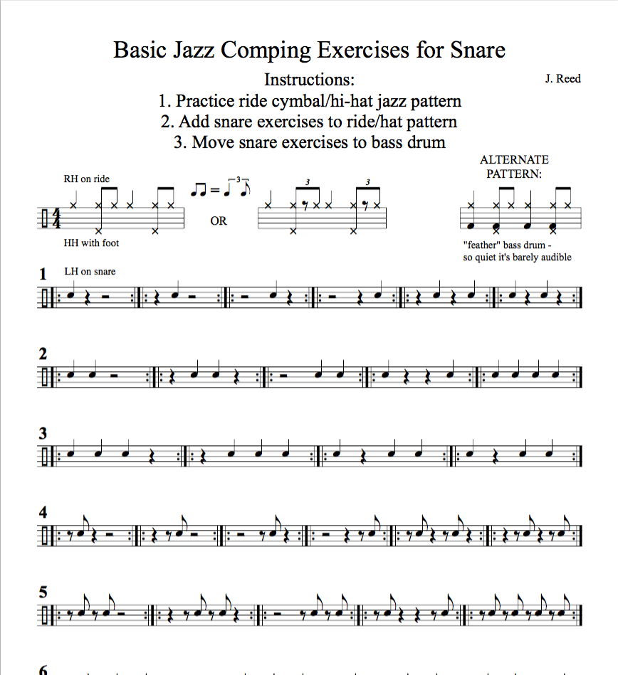 Basic Jazz Comping Exercises