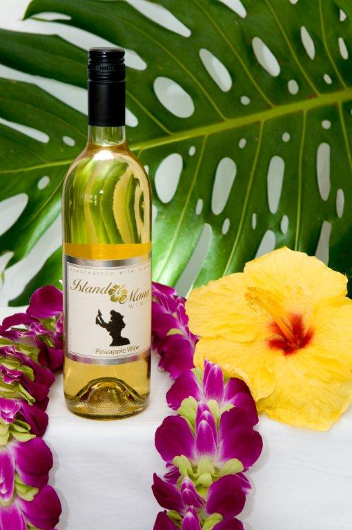 Our pineapple wine is off-dry, much like a chardonnay, with a smokey nose
