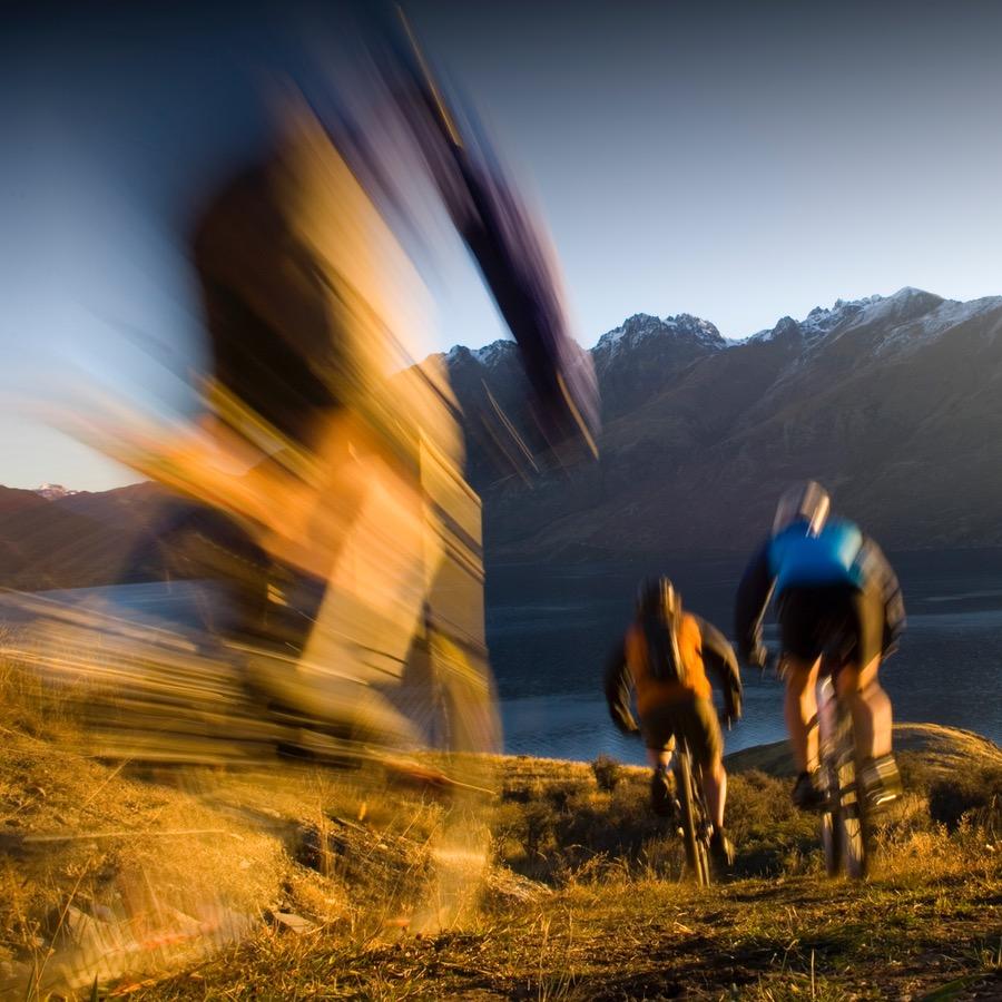 Mountain biking at Jack's Point