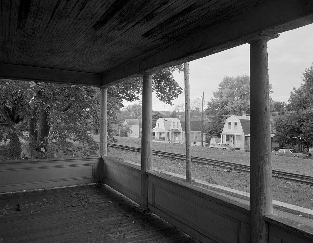 View from a company home on Small St looking North West toward the dual gauge interchange lead and S. Pennsylvania Ave.
