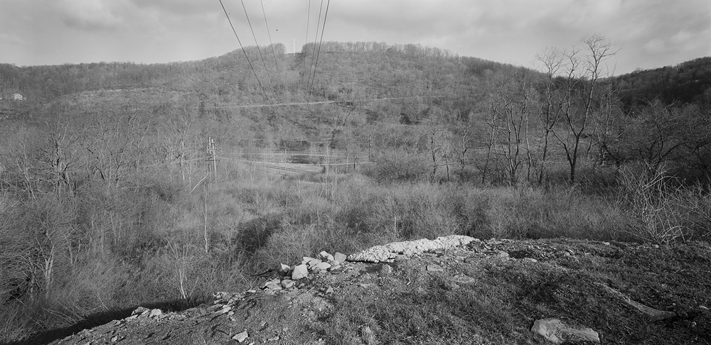 View from Franklin Park Showing the river valley and proximity of the C&BL in the foreground and Mainline on the far Side of the River.  This image is in the area of the Allegheny Portage Railroad trail that leads East to the preserved Staple Bend Tunnel, now a National Historic Landmark and linear park.