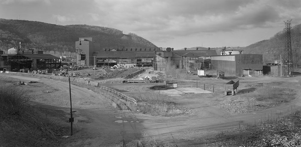 The former blast furnace and open hearth mills of the Bethlehem Johnstown Works from the Locust St. Bridge in Franklin. Note the C&BL lead that used to provide rail service into the mill.