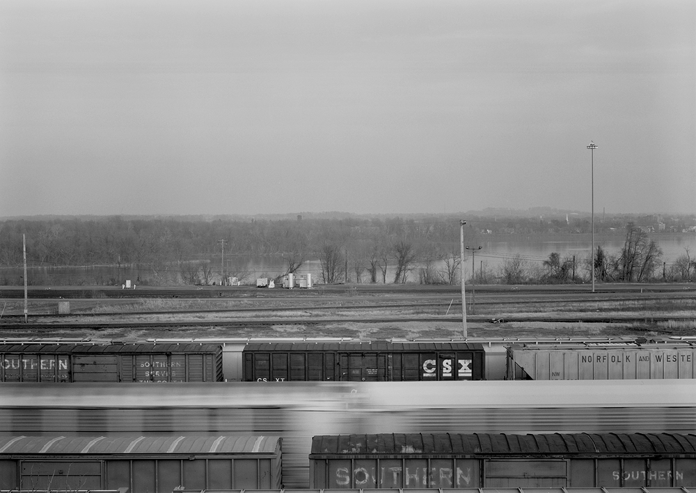 Current sorting operations focus around the former westbound classification yard (background) that Norfolk Southern rebuilt in 2003. Note the proximity of the facility to the beautiful Susquehanna River.