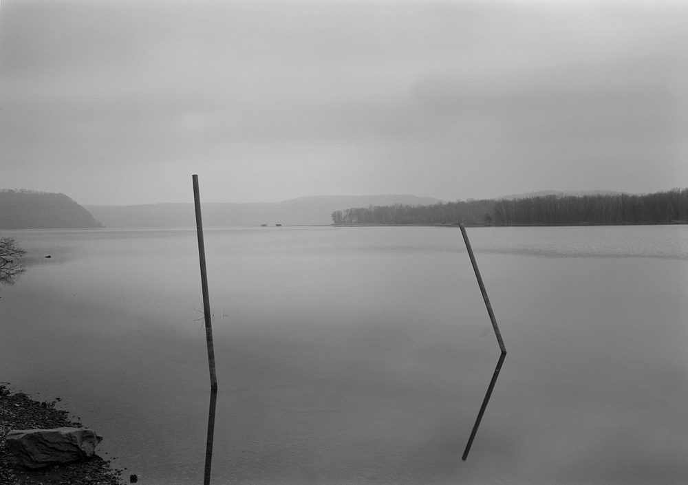 Mooring posts and Turkey Hill Point, Washington Boro, Pennsylvania.