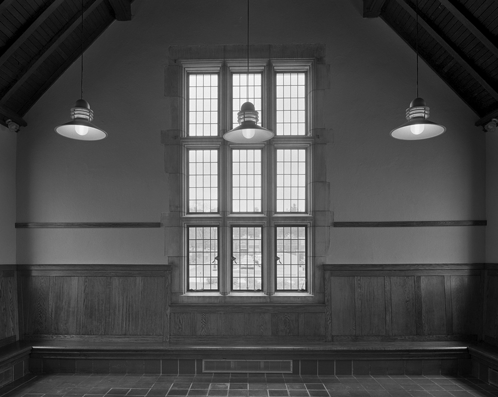 Interior detail of the 1915 Passenger Station built by architects Zantzinger, Borie & Medary to match their Masonic Homes Campus on the south side of the Main Line.
