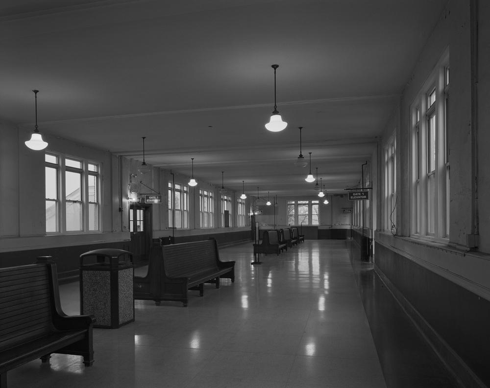 Interior detail of the 1929 Lancaster passenger station. Lancaster is the county seat of Lancaster County and was an important junction between the Harrisburg, Portsmouth, Mt Joy and Lancaster Railroad and the Philadelphia and Columbia Railway. After the PRR assumed operations of both railroads, Lancaster remained an important terminal for both passenger and freight operations in the area with many consignees including the large Armstrong Industries facility.
