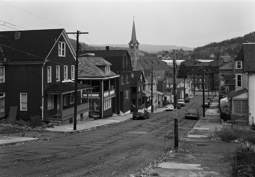 While From the Main Line is about the railroad I also take great care to consider the neighboring economies past and present to understand the larger life cycles of the surrounding landscape. View from West Singer Street, Johnstown, Pennsylvania.