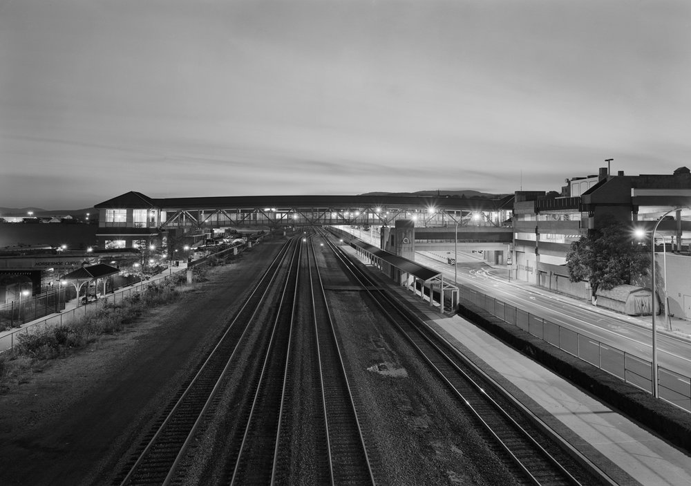 Main Line, looking west, Altoona, Pennsylvania. One of four images from the Main Line project accompanying the collection of Rau images in the exhibition at SAMA- Altoona