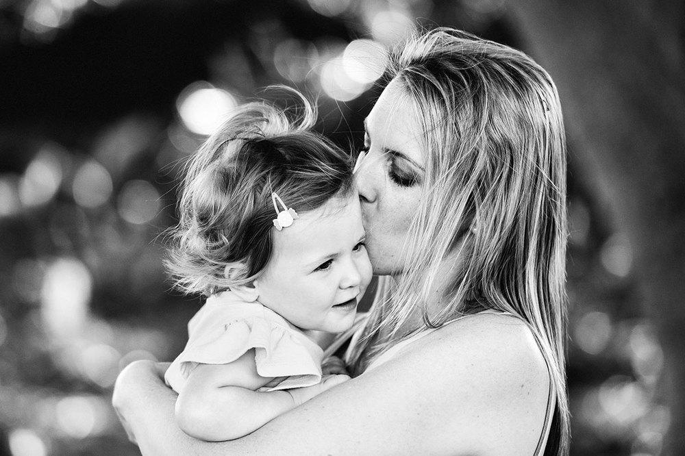 Mum and baby cuddling