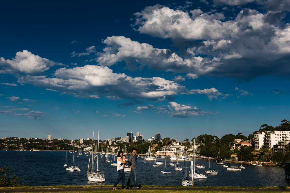 Sydney harbour view from Elkington Park