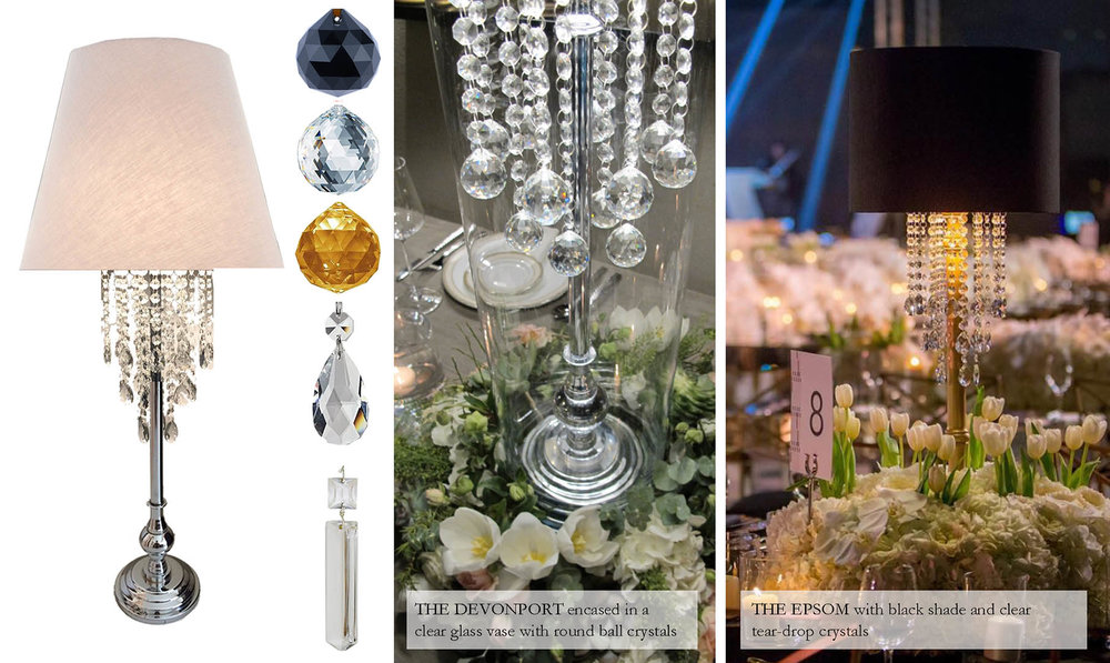 Crystal Lamps - Iluma Lamps for Events