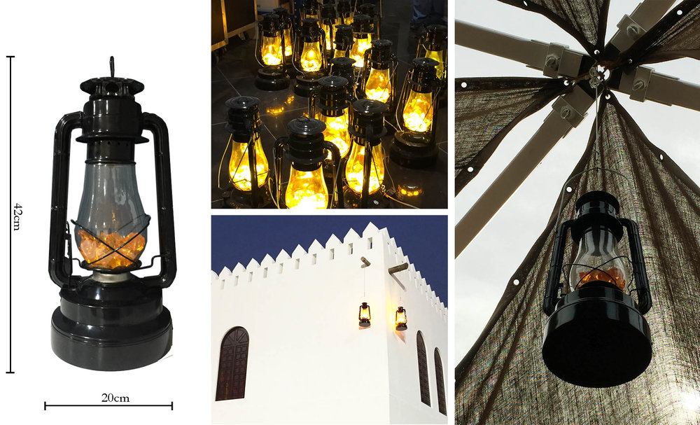 UAE Lanterns for Rent - Battery