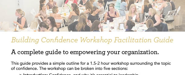 Self-Facilitated Workshop:Building Confidence -