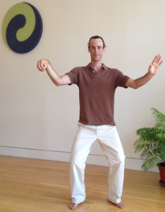 Tai chi single whip posture