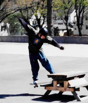 Dan Skateboarding