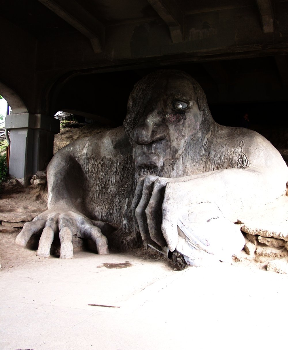 "Even the Fremont Troll is in for the ""Monster Mash"""
