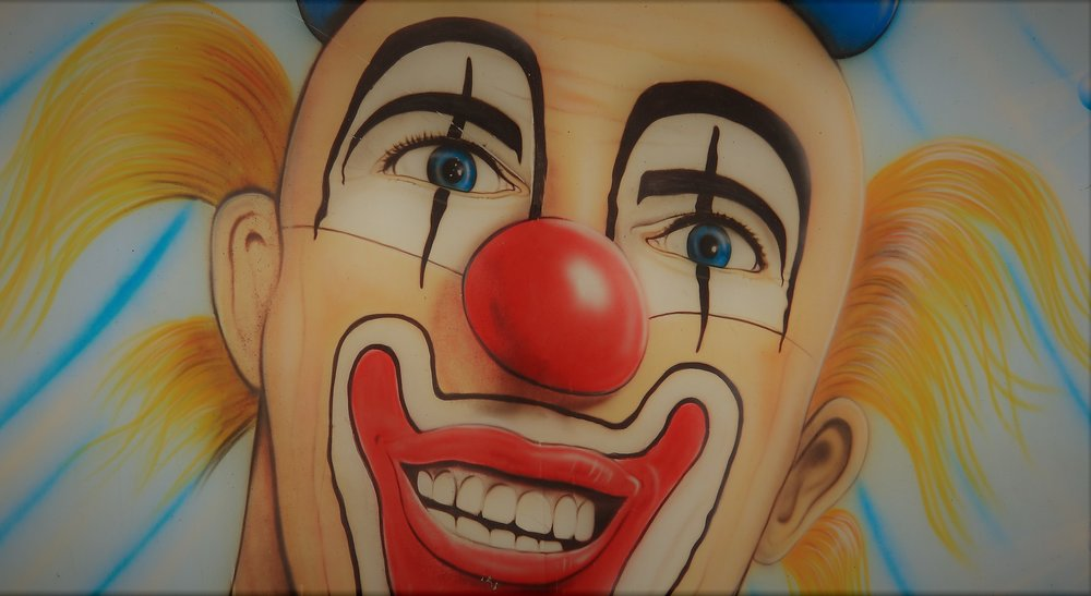 A slightly less scary clown than Tommy Wiseau