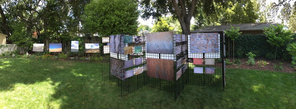 Open-air gallery display during Silicon Valley Open Studios, May 2016