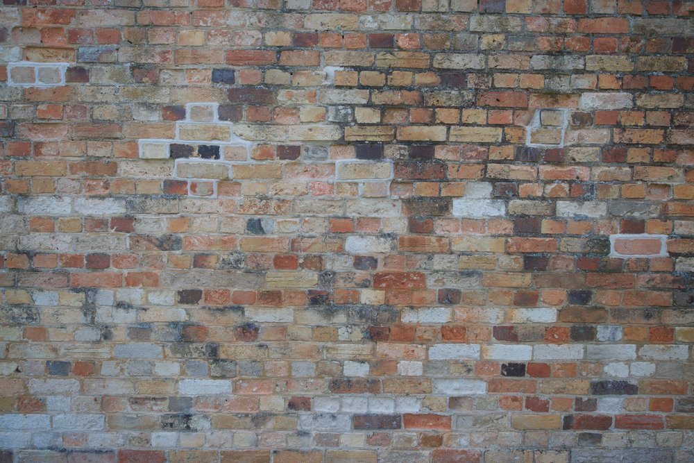 2015-0025-0034.  Brick wall, Port Arthur, Tasmania.   Purchase this print.