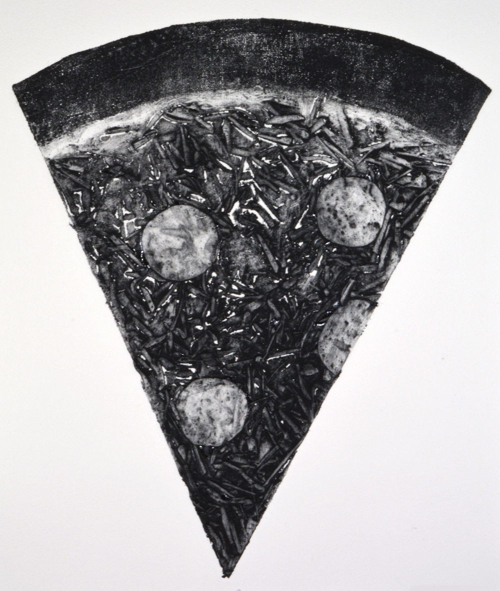 By The Slice    Collagraph  2014