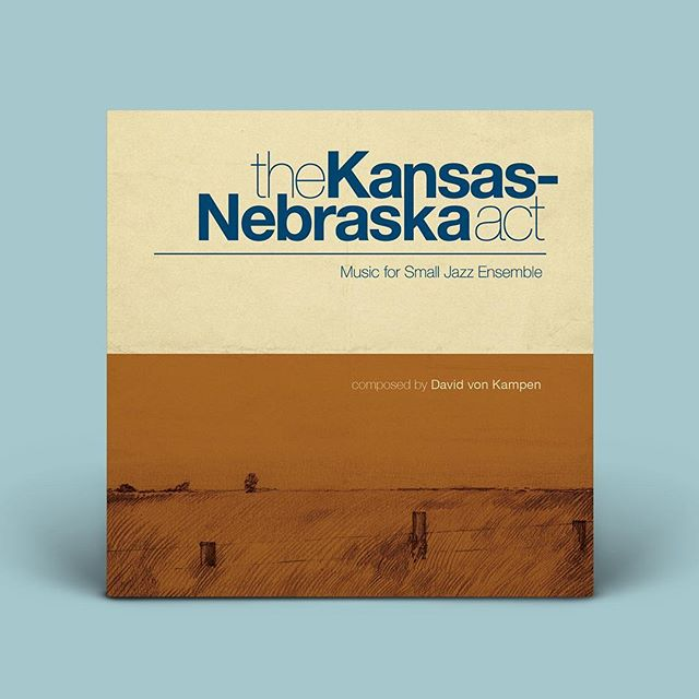 The Kansas-Nebraska Act: Record & Poster Design . A while back, @davidvonkampen approached me with a project that he was working on that needed some art. The rest is history. The Kansas-Nebraska Act was an album composed by David of music for small jazz ensemble. I drew inspiration from the golden age of jazz record design, and quite literally from some Nebraska landscape itself to create a simple, yet effective cover design. It's quite a wonderful album, and definitely worth a listen at the very least. . Check out the full project on my website at: https://lukewohlgemuth.com/the-kansasnebraska-act . #lukewohlgemuth #illustration #drawing #poster #design #recorddesign  #LNK #DVK #Jazz #Composer #NYC #art #illustrationartists #illustratorsoninstagram #mfaillustration