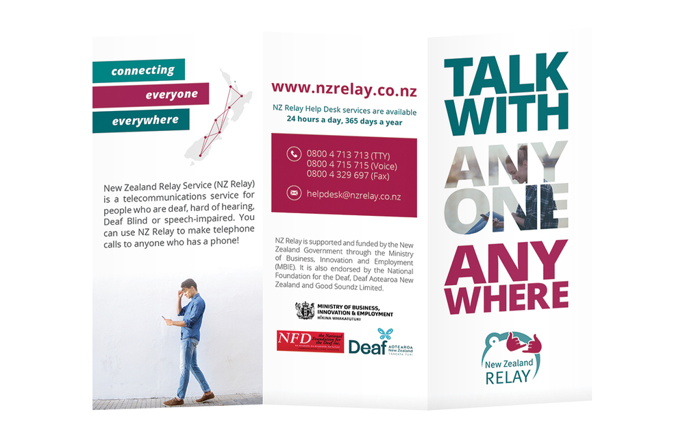 Design Option 2 for Front Cover of NZ Relay Brochure