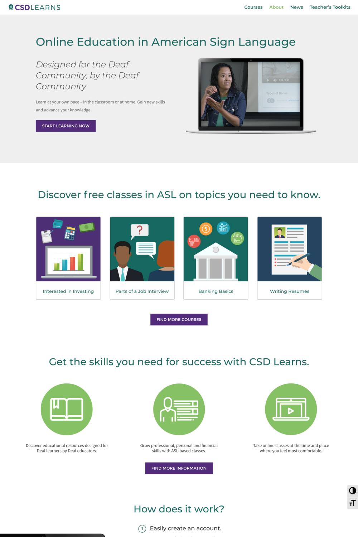 CSD Learns Website