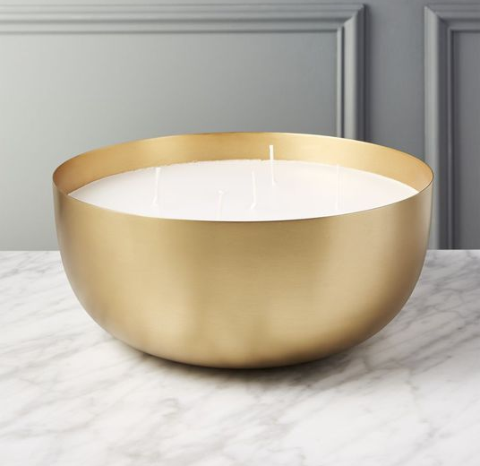 Large Brass Candle