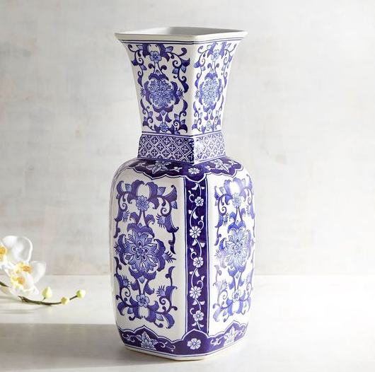 Blue White Ceramic Vase