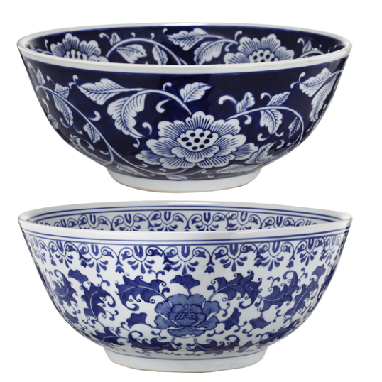 Blue White Ceramic Bowl Set