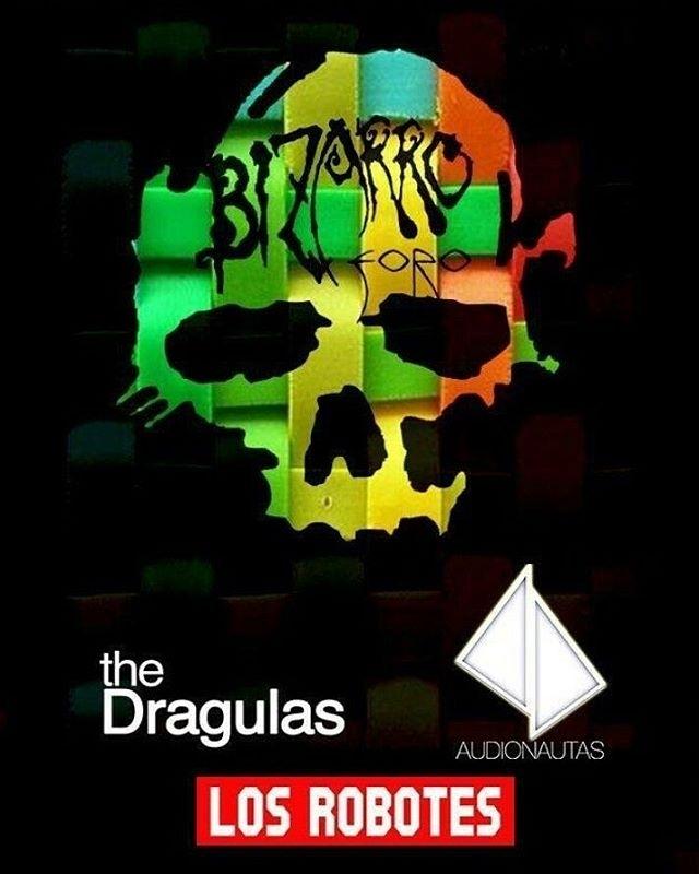 regram @sidney_robote Noche de música retrofuturista!!! .  Jueves 1 de febrero 2018 Foro Bizarro @thedragulas @audionautas  Y @losrobotes  Av. Yucatan 10 Cover $50 INE obligatoria!!!!! . . . #losrobotes #hablandosolo #Godiva #unikorniorobotsrecords #indiemusic #rock #concierto #conciertos #gig #gigs #bipolarock #thedragulas #audionautas