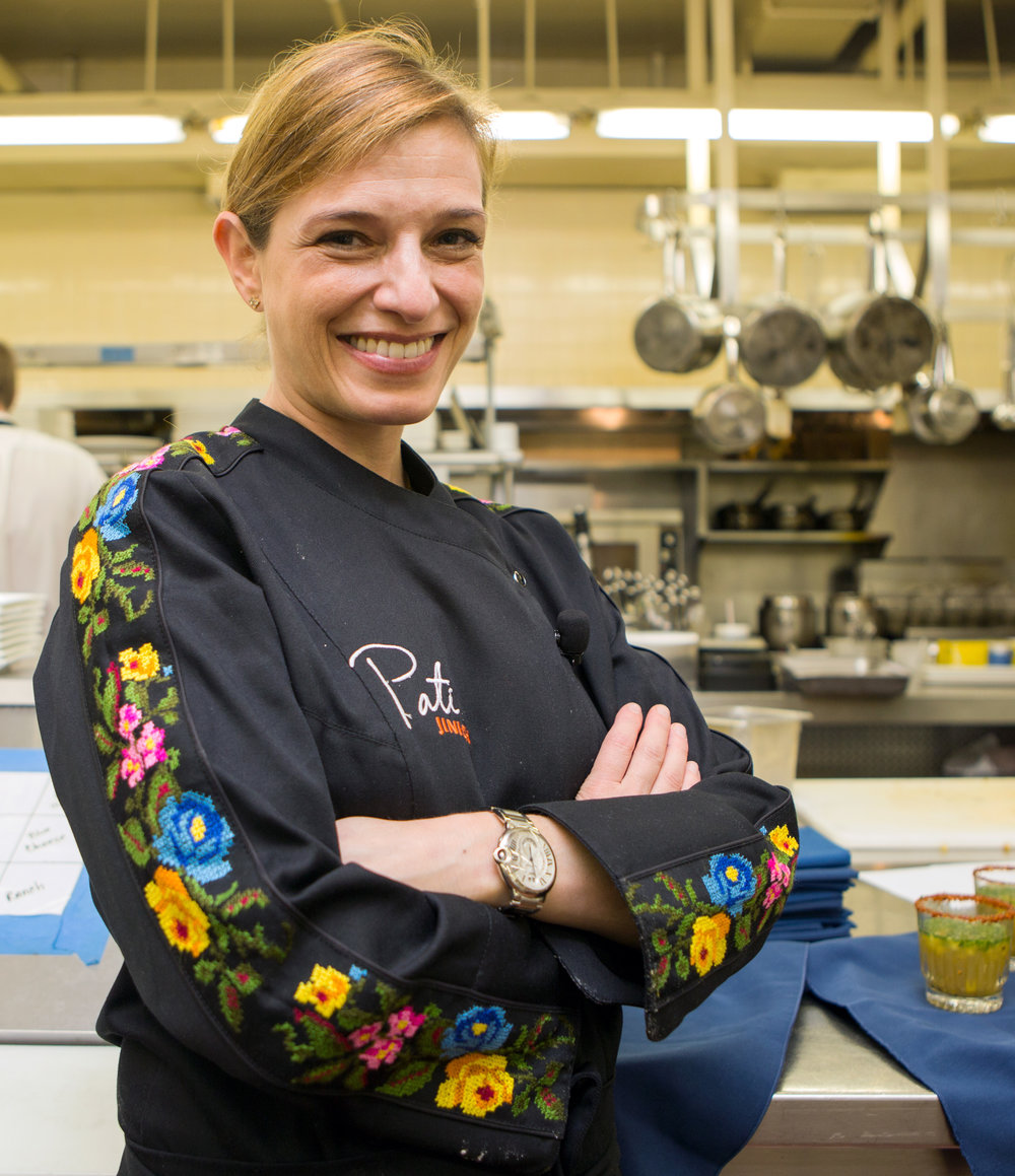 """Host of PBS cooking show """"Pati's Mexican Table"""" Pati Jinich poses in the kitchen of the Inverness Club in Toledo before Key Private Bank's celebrity chef dinner on Thursday, Oct. 6, 2016."""