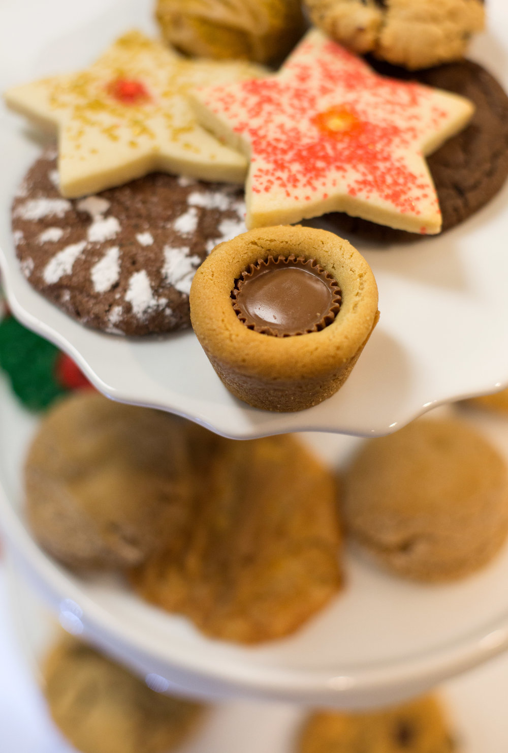 A tower of assorted cookies is set out during the annual Cookie Bake-Off at Penta Career center on Thursday, Oct. 20, 2016.