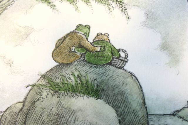 "Frog and Toad are Friends  by Arnold Lobel. If your kid doesn't come from a queer family, this is a good way to start the conversation about people of all genders being together. This convo should start around age 3, with simple words phrases like, ""People of all kinds are friends and love eachother. Not just ___ ____ like ____ ____."" Ages 2-8."