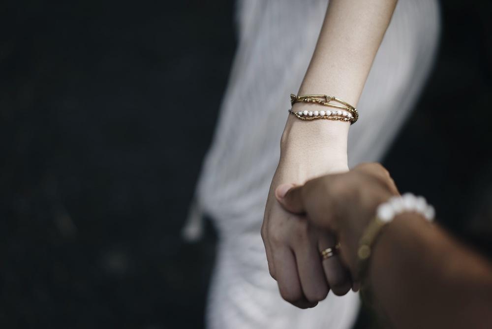 白松石棉繩 |  黃銅手環 | 黃銅手環(草裙)