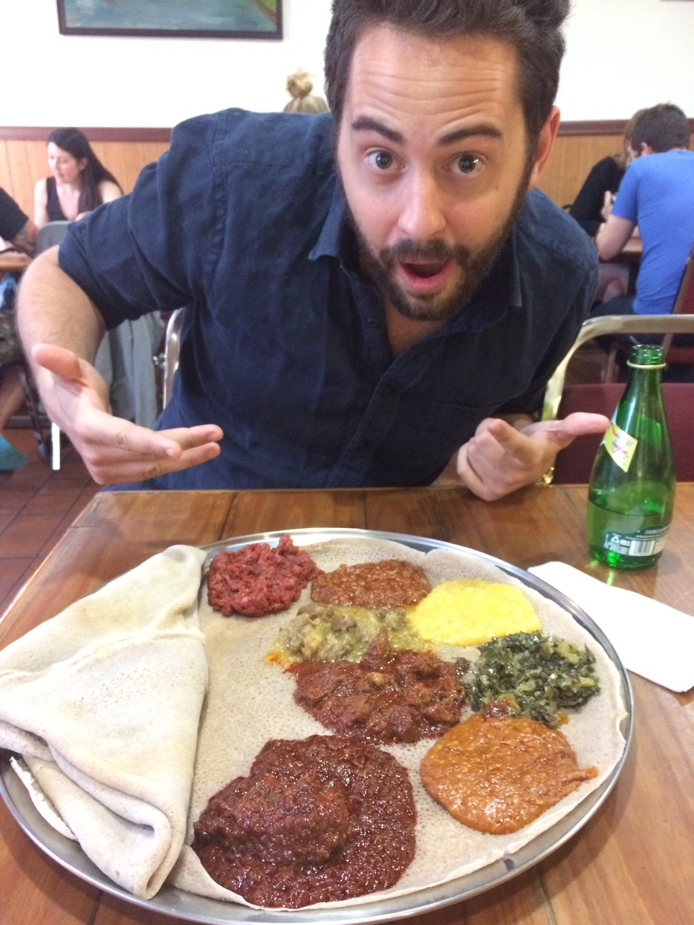 I don't only eat sandwiches. This is an AMAZING platter from Zenebech Injera, a beloved injera bakery and one of the best Ethiopian restaurants in the United States.