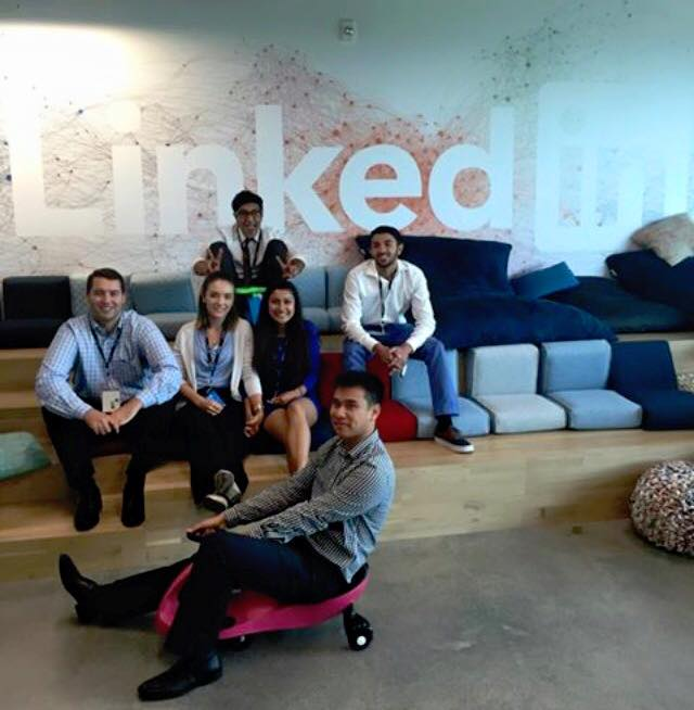 Team AKPsi at Linkedin hackathon 2015